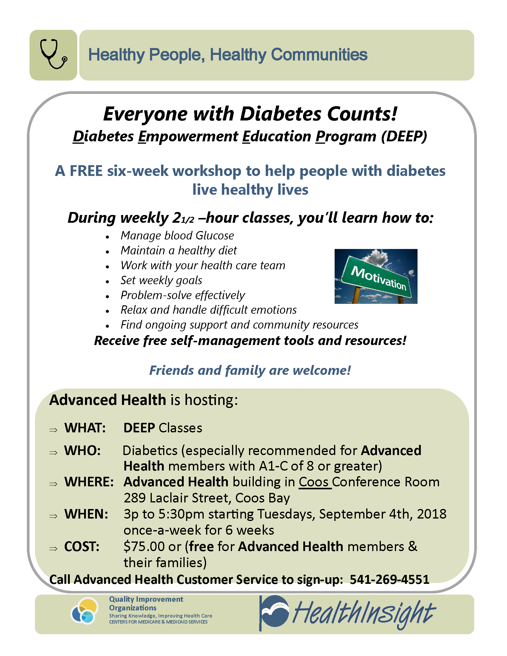 upcoming member events advanced health